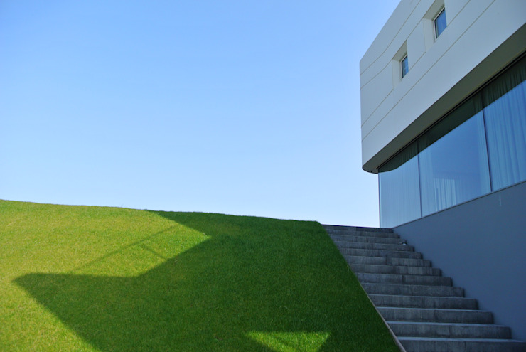 Waterfront villa Moderne tuinen van Waterstudio.NL Modern