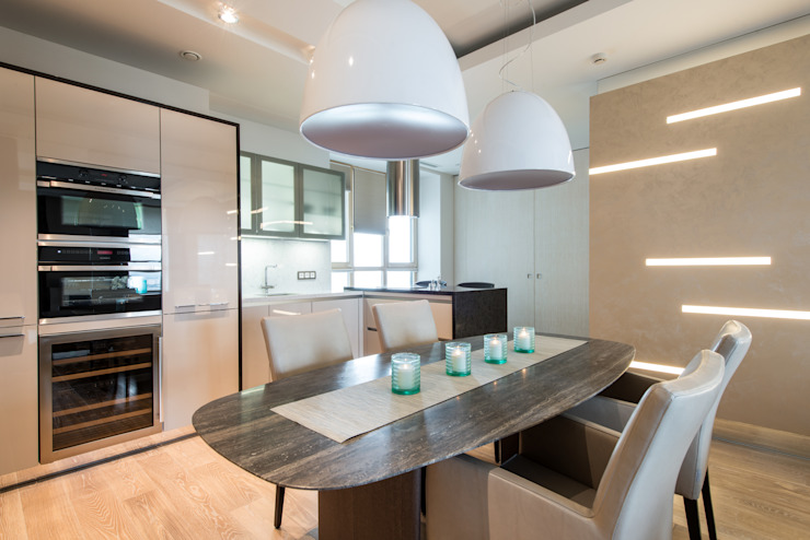 Men's apartment Столовая комната в стиле модерн от Ольга Райская Модерн