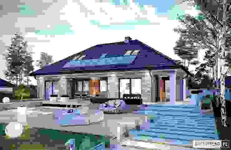 Casas de estilo  de Pracownia Projektowa ARCHIPELAG
