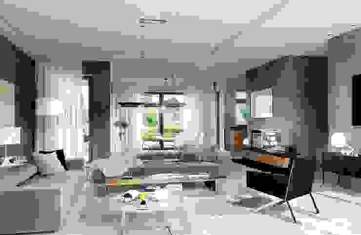 Pracownia Projektowa ARCHIPELAG Livings de estilo moderno