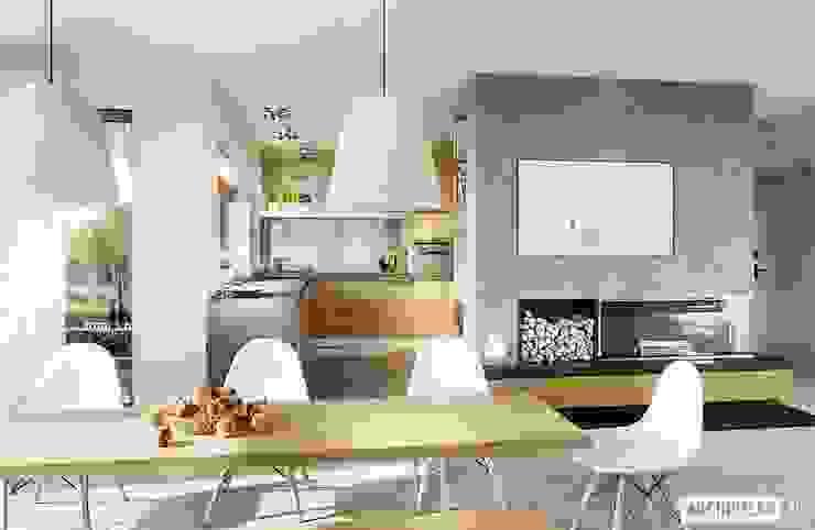 Pracownia Projektowa ARCHIPELAG Modern dining room