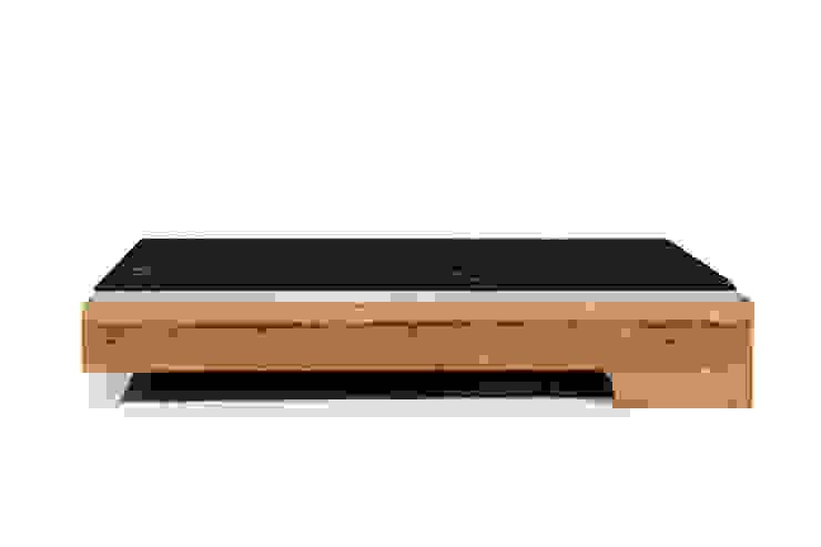 MAZZIVO bed LOOP - solid alder wood od mazzivo konzept + gestaltung przemysław mitręga Nowoczesny Drewno O efekcie drewna