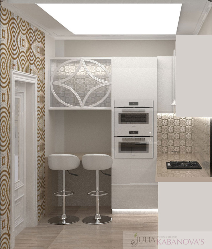 дизайн проект на проспекте Маршала Жукова Кухня в стиле модерн от JULIA KABANOVA's DESIGN STUDIO Модерн