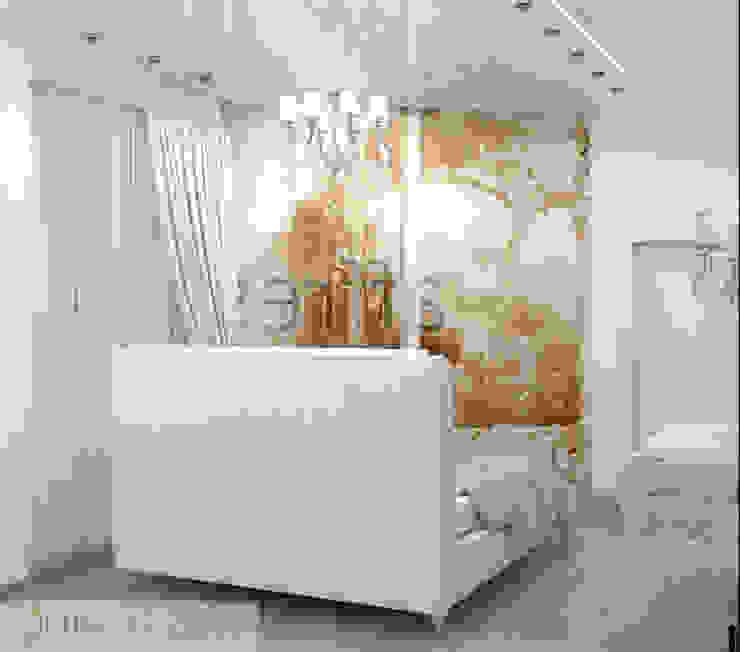 дизайн проект на проспекте Маршала Жукова Спальня в эклектичном стиле от JULIA KABANOVA's DESIGN STUDIO Эклектичный