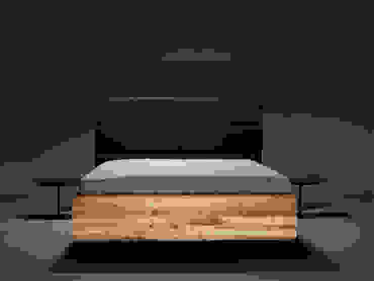 MAZZIVO bed BOXSPRING od mazzivo konzept + gestaltung przemysław mitręga Nowoczesny Drewno O efekcie drewna