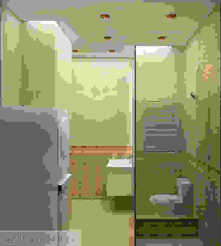 дизайн проект на проспекте Маршала Жукова Ванная комната в эклектичном стиле от JULIA KABANOVA's DESIGN STUDIO Эклектичный