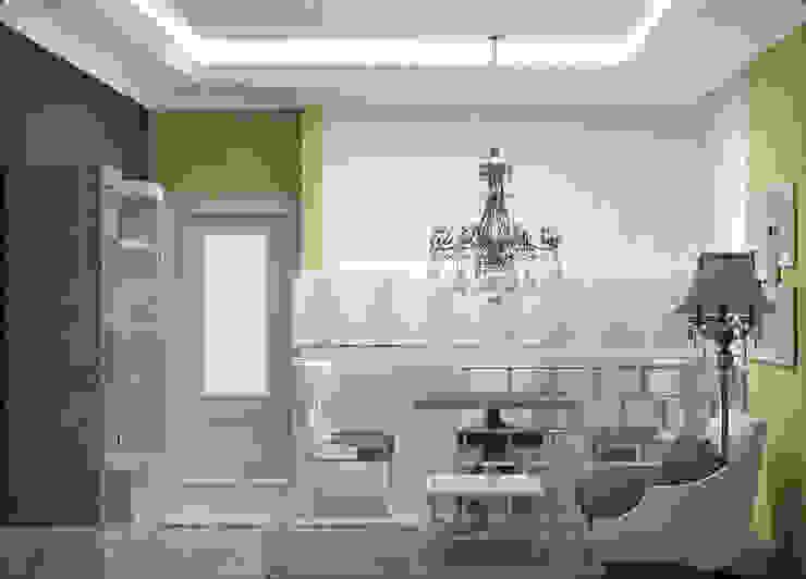 дизайн проект на проспекте Маршала Жукова Столовая комната в эклектичном стиле от JULIA KABANOVA's DESIGN STUDIO Эклектичный