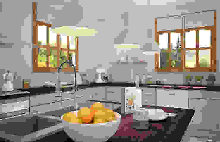 Cuisine en U par Concept d'intérieur Moderne Bois Effet bois