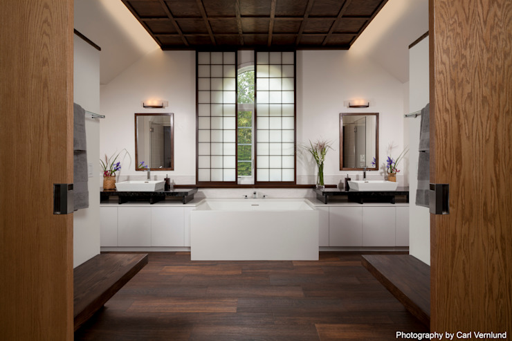Asian style bathroom by Penguin Environmental Design L.L.C. Asian