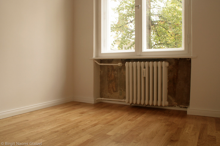 Birgit Glatzel Architektin Industrial style bedroom Wood Multicolored