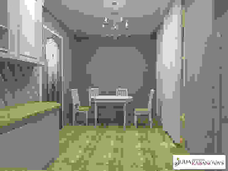 Дизайн проект на ул.Таганской Столовая комната в классическом стиле от JULIA KABANOVA's DESIGN STUDIO Классический