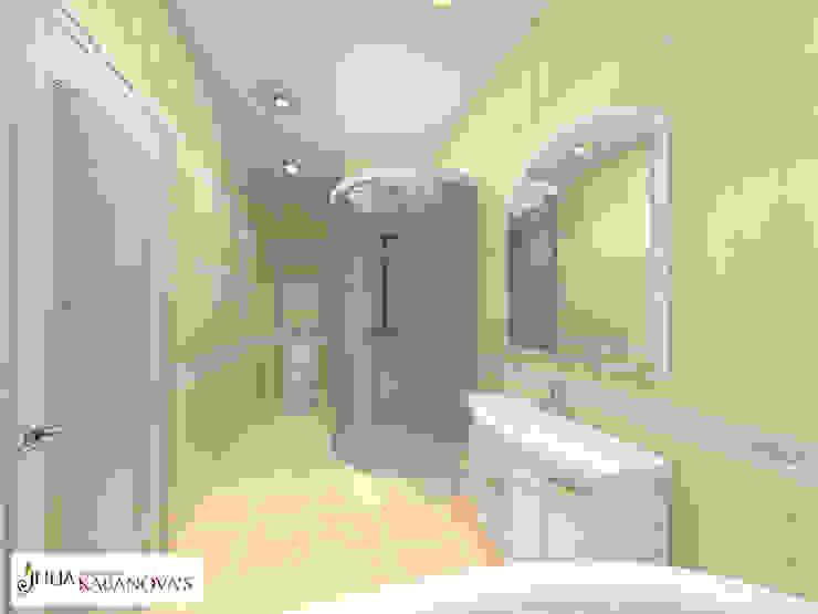 Дизайн проект на ул.Таганской Ванная в классическом стиле от JULIA KABANOVA's DESIGN STUDIO Классический