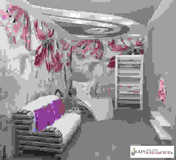Дизайн проект на ул.Таганской Детская комната в стиле модерн от JULIA KABANOVA's DESIGN STUDIO Модерн