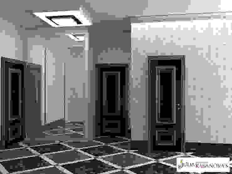 Klasyczny korytarz, przedpokój i schody od JULIA KABANOVA's DESIGN STUDIO Klasyczny