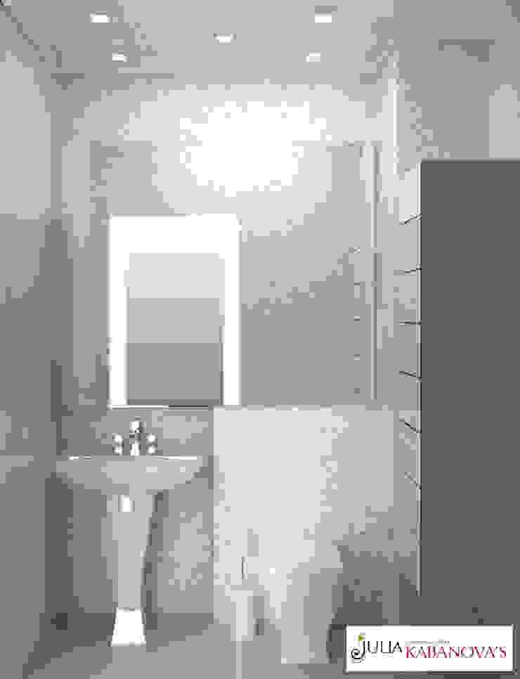 Дизайн проект на ул.Таганской Ванная комната в стиле модерн от JULIA KABANOVA's DESIGN STUDIO Модерн