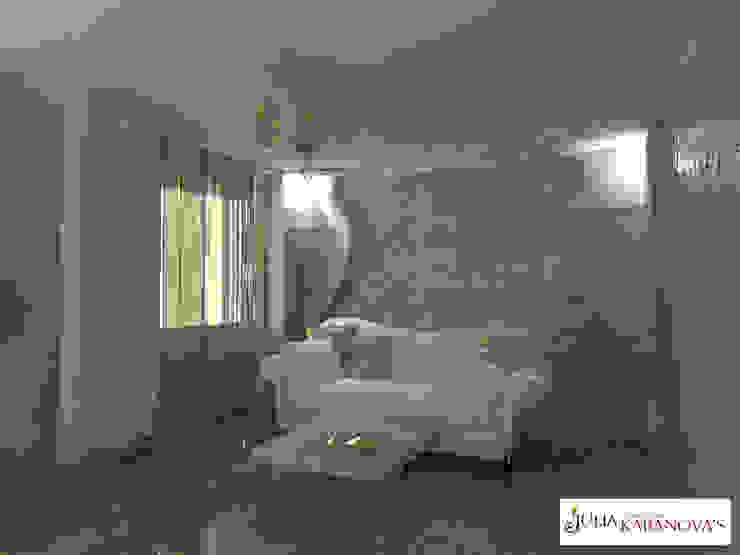 Дизайн проект на ул.Таганской Гостиные в эклектичном стиле от JULIA KABANOVA's DESIGN STUDIO Эклектичный