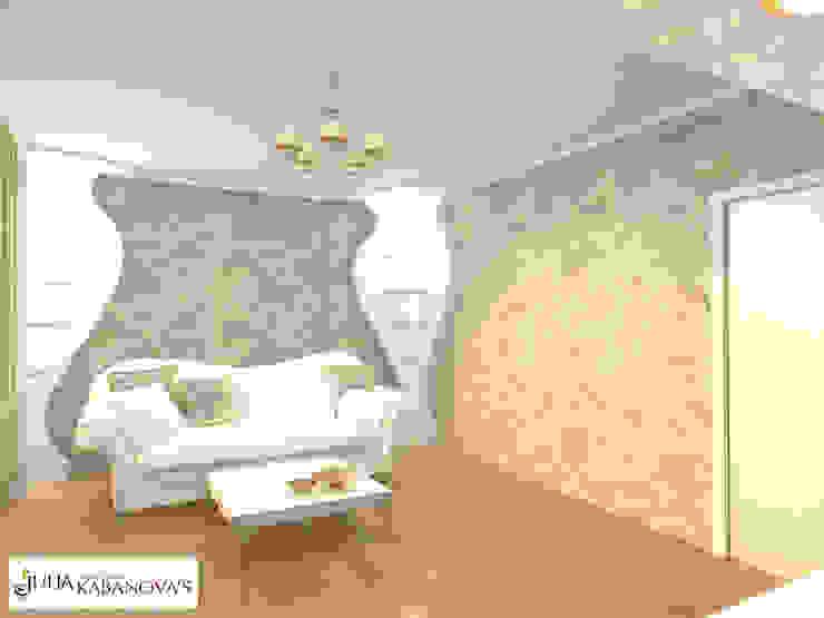 Дизайн проект на ул.Таганской Гостиная в классическом стиле от JULIA KABANOVA's DESIGN STUDIO Классический