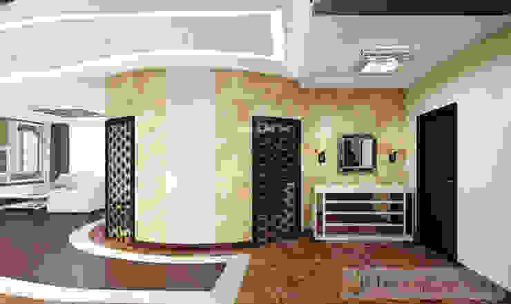 Дизайн проект на ул.Новый Арбат Коридор, прихожая и лестница в модерн стиле от JULIA KABANOVA's DESIGN STUDIO Модерн