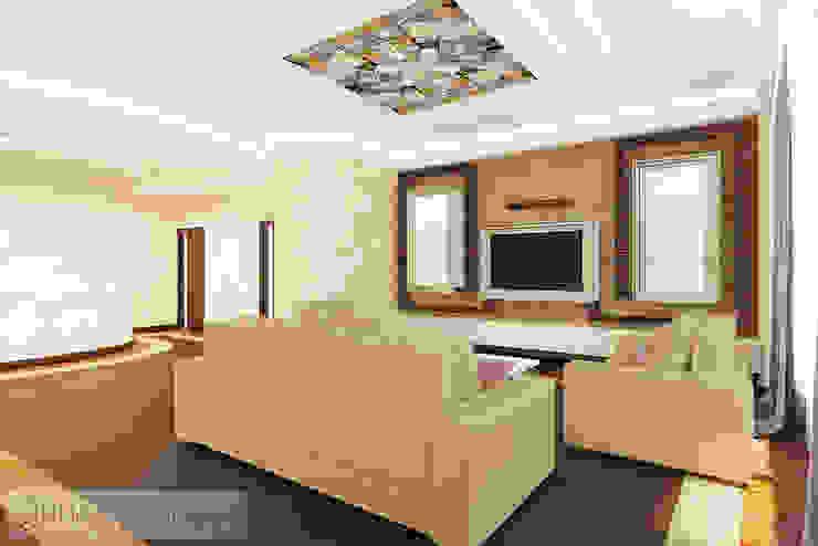 Дизайн проект на ул.Новый Арбат Гостиная в стиле модерн от JULIA KABANOVA's DESIGN STUDIO Модерн