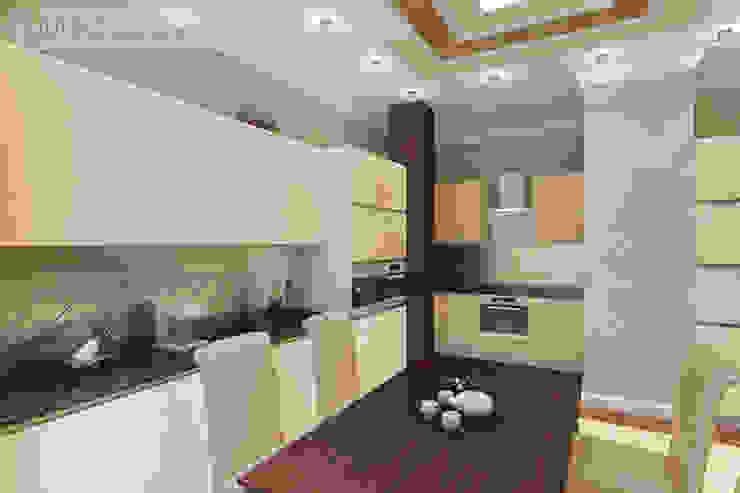Дизайн проект на ул.Новый Арбат Кухня в стиле модерн от JULIA KABANOVA's DESIGN STUDIO Модерн
