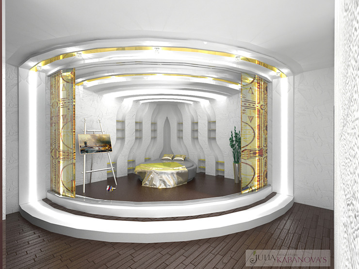 Дизайн проект на ул.Новый Арбат Детская комната в стиле модерн от JULIA KABANOVA's DESIGN STUDIO Модерн