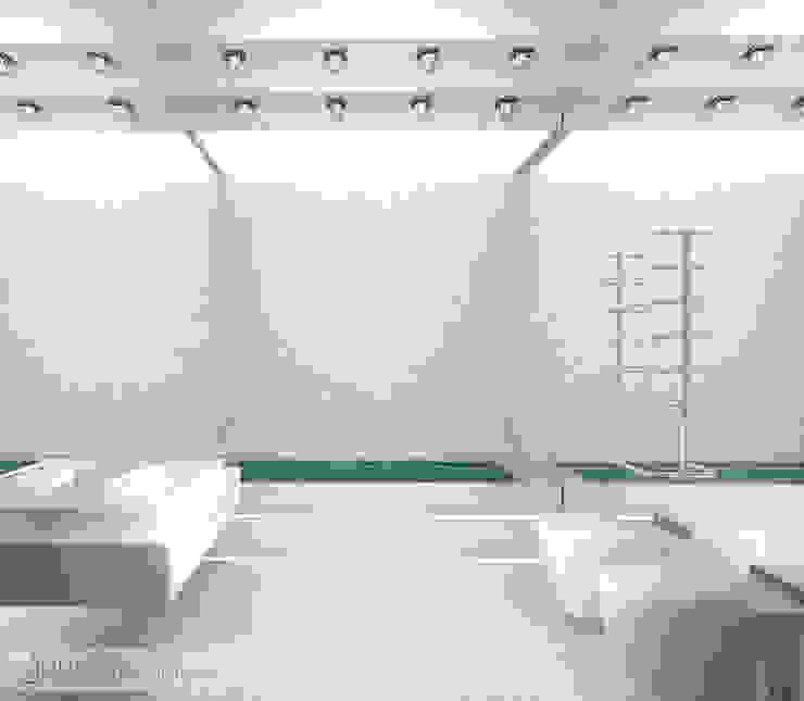 Дизайн проект на ул.Новый Арбат Ванная комната в стиле модерн от JULIA KABANOVA's DESIGN STUDIO Модерн