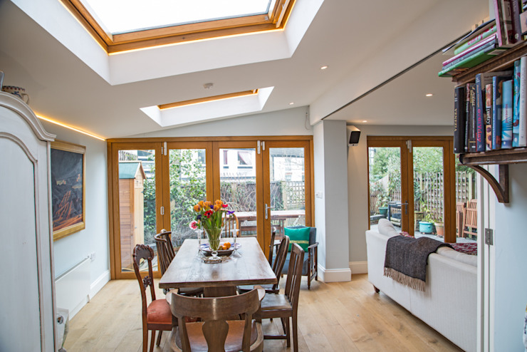 RUDALL CRESCENT, NW3. XUL Architecture Modern Dining Room