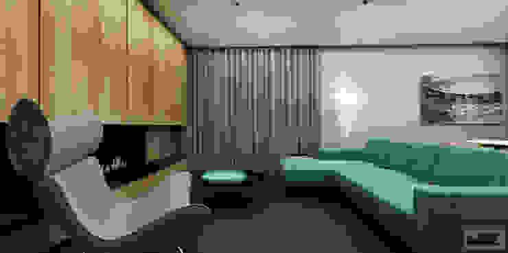 Mieszkanie prywatne Nowoczesny salon od KOZIEJ ARCHITEKCI Nowoczesny