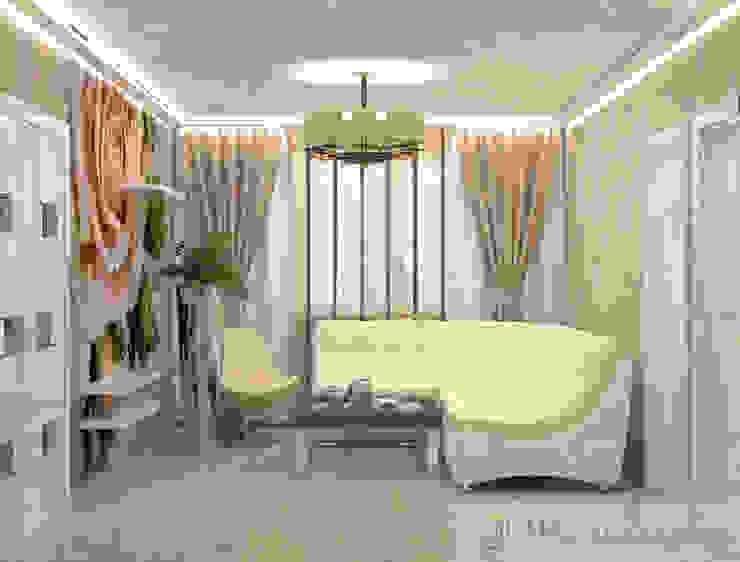 дизайн проект на Коломенской набережной Гостиная в стиле модерн от JULIA KABANOVA's DESIGN STUDIO Модерн