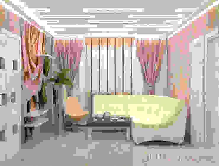дизайн проект на Коломенской набережной Гардеробная в стиле модерн от JULIA KABANOVA's DESIGN STUDIO Модерн