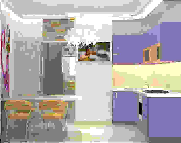 дизайн проект на Коломенской набережной Кухня в стиле модерн от JULIA KABANOVA's DESIGN STUDIO Модерн