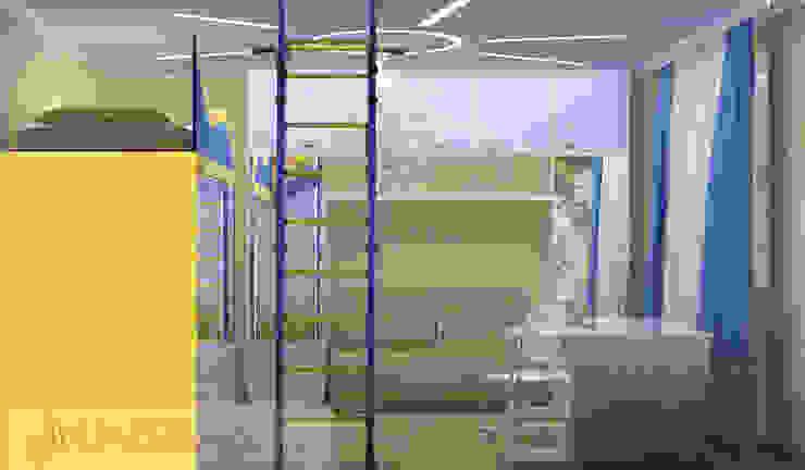 дизайн проект на Коломенской набережной Детская комната в стиле модерн от JULIA KABANOVA's DESIGN STUDIO Модерн