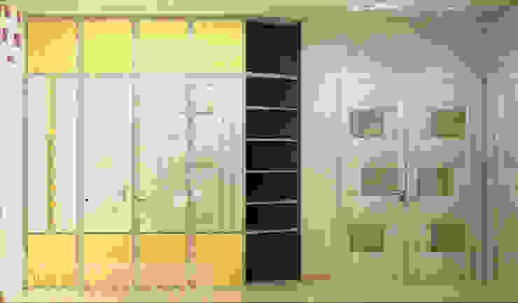 дизайн проект на Коломенской набережной Коридор, прихожая и лестница в модерн стиле от JULIA KABANOVA's DESIGN STUDIO Модерн