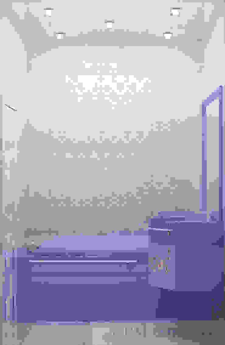 дизайн проект на Коломенской набережной Ванная комната в стиле модерн от JULIA KABANOVA's DESIGN STUDIO Модерн