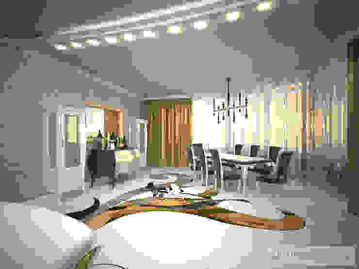 дизайн проект на ул.Строителей Столовая комната в эклектичном стиле от JULIA KABANOVA's DESIGN STUDIO Эклектичный