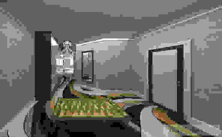 дизайн проект на ул.Строителей Коридор, прихожая и лестница в эклектичном стиле от JULIA KABANOVA's DESIGN STUDIO Эклектичный
