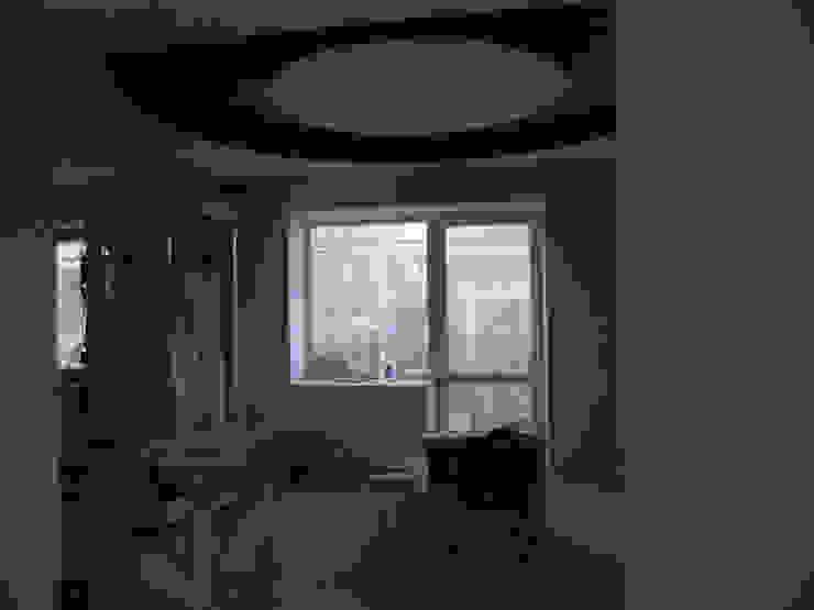 столовая+ кухня до и во время начала ремонта от JULIA KABANOVA's DESIGN STUDIO