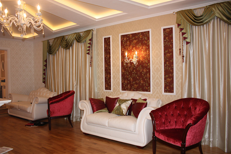 гостиная после ремонта с мебелировкой от JULIA KABANOVA's DESIGN STUDIO