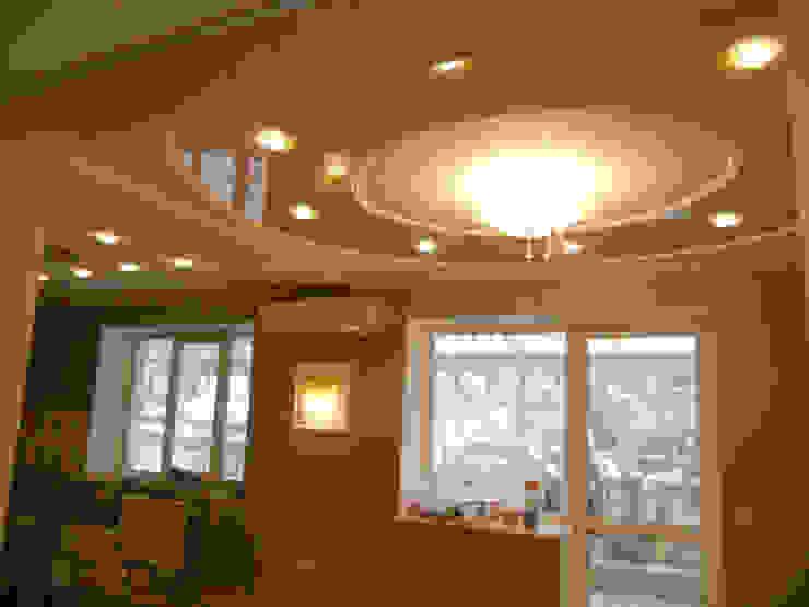 потолок столовой после ремонта от JULIA KABANOVA's DESIGN STUDIO
