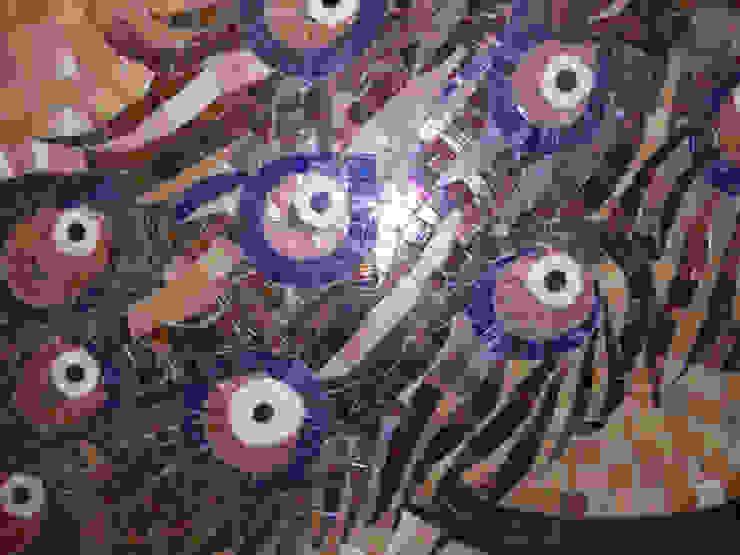 мозаичное панно в санузле -фрагмент от JULIA KABANOVA's DESIGN STUDIO