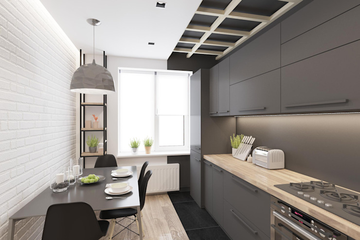 Проектик холостяка Кухня в стиле минимализм от Ivantsov design studio Минимализм