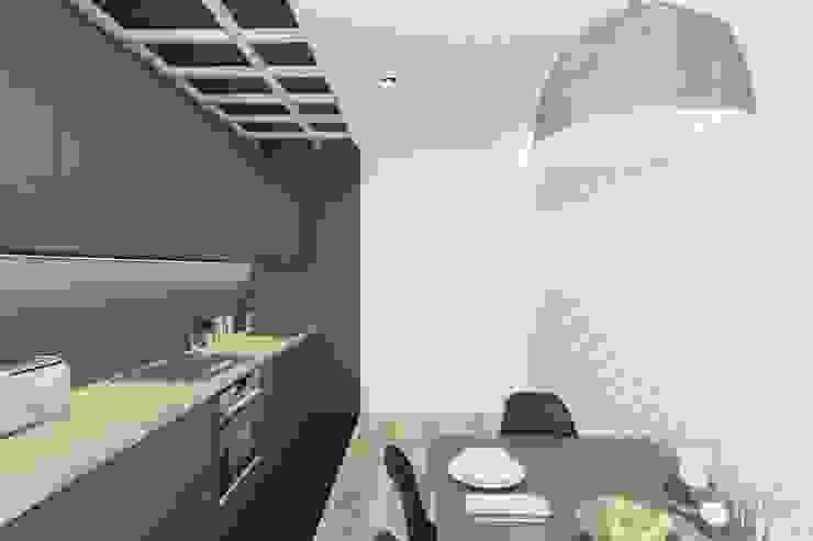 Ivantsov design studio Cocinas minimalistas Blanco