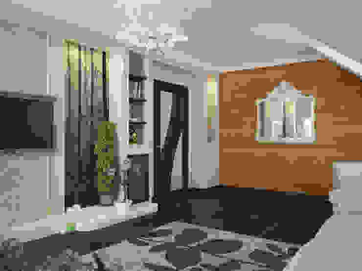 Дизайн проект дома - 2 этаж - 106,9 м2 Медиа комнаты в эклектичном стиле от Artstyle Эклектичный