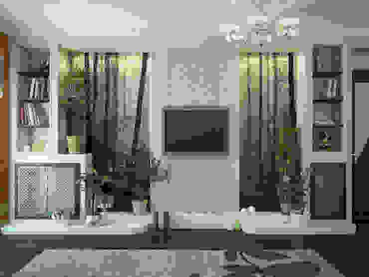 Дизайн проект дома – 2 этаж – 106,9 м2 Медиа комнаты в эклектичном стиле от Artstyle Эклектичный