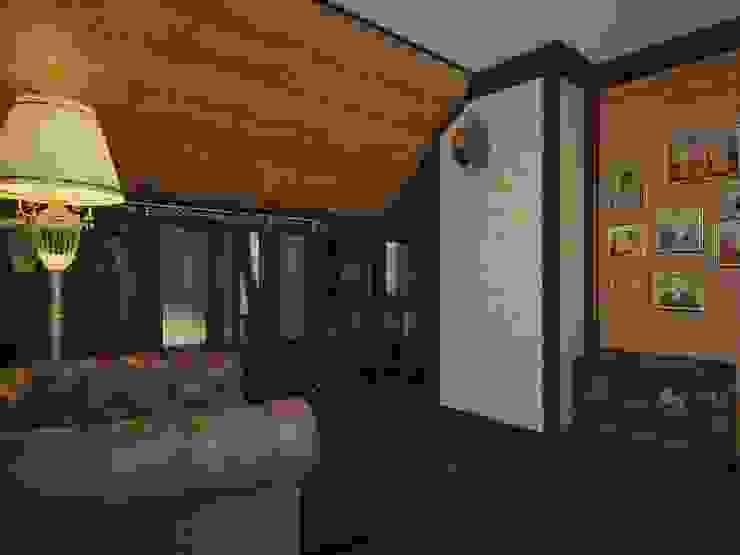 Дизайн проект дома – 2 этаж – 106,9 м2 Рабочий кабинет в эклектичном стиле от Artstyle Эклектичный