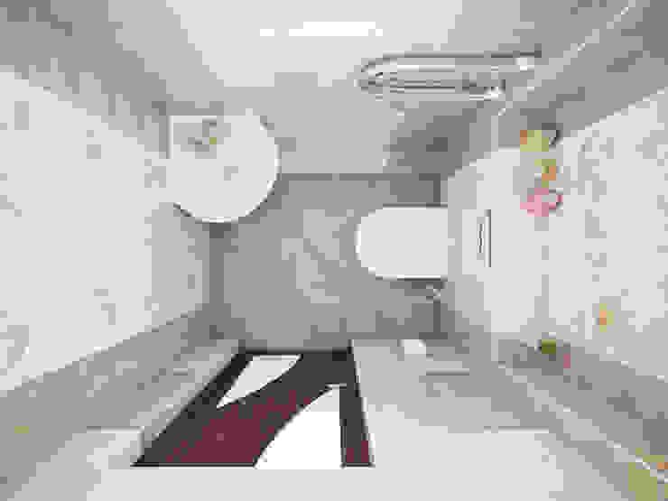 Дизайн проект дома – 2 этаж – 106,9 м2 Ванная комната в эклектичном стиле от Artstyle Эклектичный
