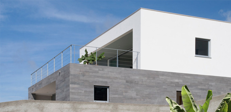 widescreen house Casas minimalistas por Mayer & Selders Arquitectura Minimalista Pedra