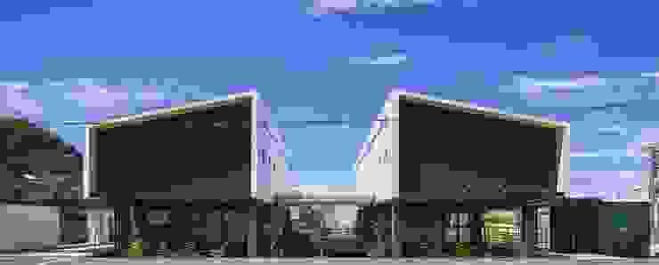 外観(東側道路より) モダンな 家 の フィールド建築設計舎 モダン 木 木目調
