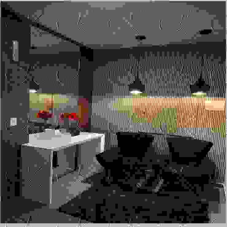 DEPOIS - HALL DE ENTRADA Corredores, halls e escadas modernos por studio jk design Moderno