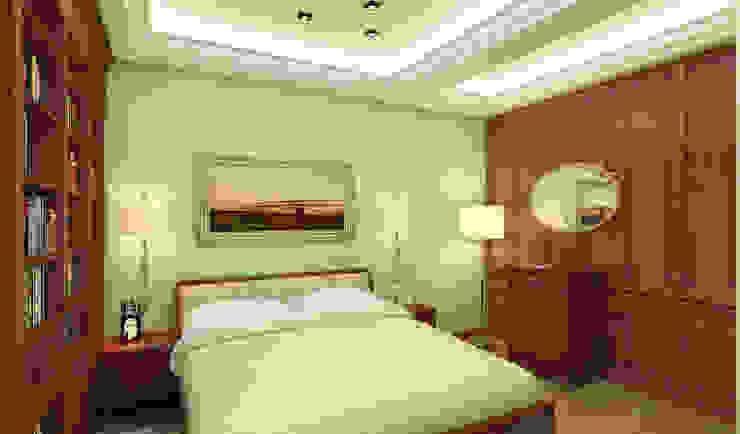 спальня, слева рабочий кабинет Спальня в классическом стиле от homify Классический
